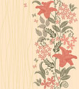 Vertical seamless floral pattern in vector Stock Photography