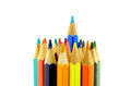 Vertical set of color pencils Royalty Free Stock Photo