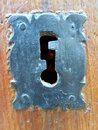 Vertical shot of an antique keyhole Royalty Free Stock Photo