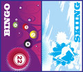Vertical ski and bingo banners Royalty Free Stock Photo