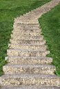 Vertical staircase a current perspective on grass fleeing up Royalty Free Stock Image