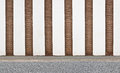 Vertical striped brick wall Royalty Free Stock Photo