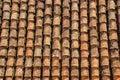 Vertical tile roof in Granada