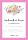 Vertical vector vintage wedding invitation