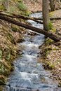 A Vertical View of a Cascading Stream at Douthat State Park, VA, USA Royalty Free Stock Photo