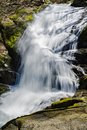 A Vertical View of Crabtree Falls in the Blue Ridge Mountains of Virginia, USA Royalty Free Stock Photo