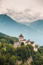 Vertical view of Vaduz castle, Lichtenstein Royalty Free Stock Photo