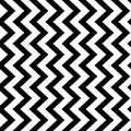 Vertical zigzag chevron seamless pattern background in black and white. Retro vintage vector design Royalty Free Stock Photo
