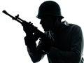 Verticale d'homme de soldat d'armée Photographie stock