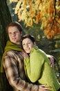 Verticale de couples en stationnement Photographie stock libre de droits
