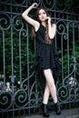 Verticale de mode d'un beau femme Image stock