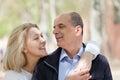 Verticale des couples m rs Photo stock