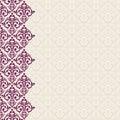Vertically seamless baroque background damask luxury frame border Stock Image