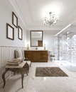 Very beautiful bathroom in a contemporary English style. Royalty Free Stock Photo