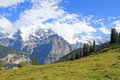 Very beautiful mountain landscape with glaciers in Switzerland Royalty Free Stock Photo