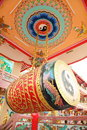 Very big china drum in china temple Royalty Free Stock Photo