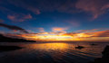 Very camiguin sundown over the bohol sea Stock Images