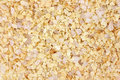 Very close view of garlic flakes with sea salt Royalty Free Stock Photography