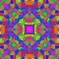 Very colorful abstract kaleidoscope, seamless texture with many color Royalty Free Stock Photo