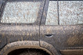 Very Dirty Car Royalty Free Stock Photo
