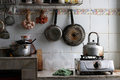 Very dirty kitchen at home Royalty Free Stock Photo