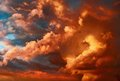 Very dramatic sunset cloudscape Royalty Free Stock Photo
