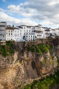 Very famous bridge in ronda view of buildings new town from other side of the th century over the ft tajo gorge spain Stock Image