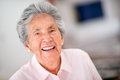Very happy senior woman portrait of a indoors Royalty Free Stock Photos