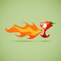 Very hot chili pepper vector illustration of Stock Photography