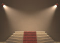 Very important person lights illuminating the podium your text in light Royalty Free Stock Photos