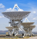 A very large array scene in new mexico july the on july at the national radio astronomy observatory five giant Royalty Free Stock Photography