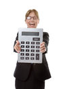 Very large calculator Royalty Free Stock Photo