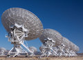 Very Large Radio Satellite Dishes Stock Image