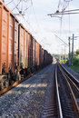 Very long freight train Stock Photography