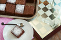 Very low fat brownies selective focus Stock Images