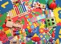 Very many toys kids background Stock Photography
