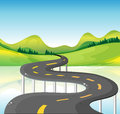 A very narrow curve road illustration of Royalty Free Stock Photography