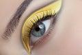 Very nice makeup and stylish eye Stock Photos