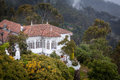 Very nice old colonial building at the Monserrate, Bogota, Colombia Royalty Free Stock Photo