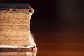 Very old bible close up with copyspace year pages Stock Photo