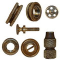 Very old bolts, steel nuts, screw heads Stock Image