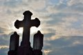 Very old cross on a graveyard Royalty Free Stock Photo