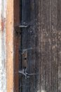 Very old door a wooden Royalty Free Stock Photography