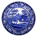 Very old dutch plate isolated Royalty Free Stock Photo