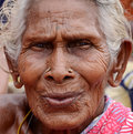 Very old indian villager women woman looking at camera photo taken on october th Stock Image