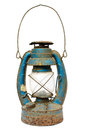 Very old lamp lantern on a white background Royalty Free Stock Photo