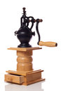 Very old manual coffee grinder Royalty Free Stock Photos