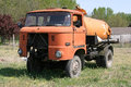 Very old rusty IFA truck as a tanker rural scene Royalty Free Stock Photo