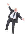 Very overweight cheerful businessman Royalty Free Stock Image