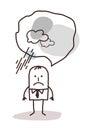 Very pessimistic cartoon man